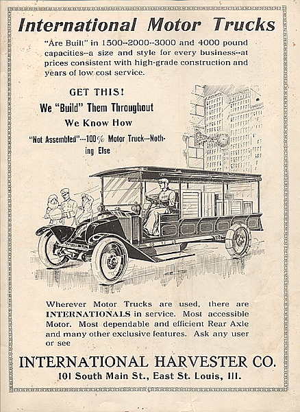 International Motor Trucks Ad